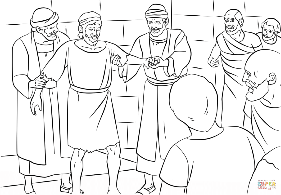 philip and the ethiopian coloring page1